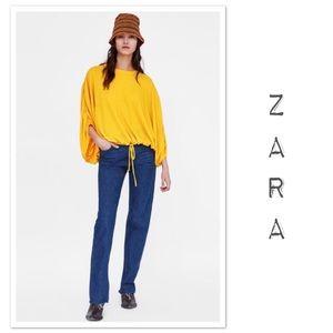 Zara Popover Blouse with Dolman Sleeves - NWT